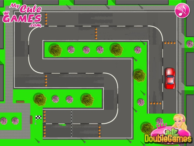 Free Download Barbie Driving Test Screenshot 3