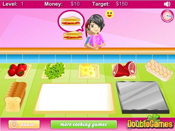 Free Download Breakfast Sandwich Shop Screenshot 2