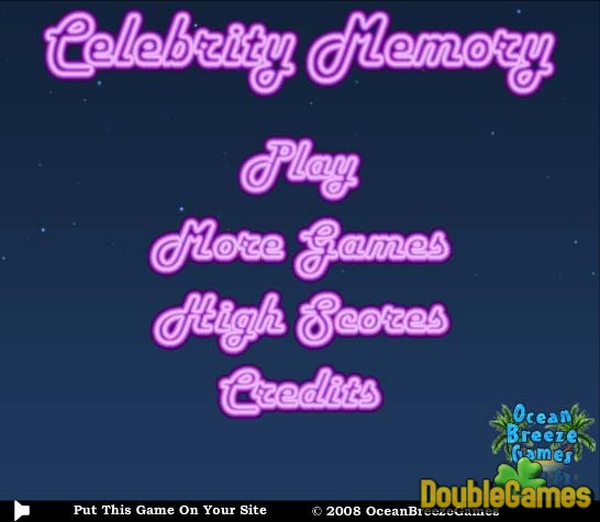 Free Download Celebrity Memory Screenshot 1