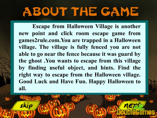 Free Download Escape From Halloween Village Screenshot 1