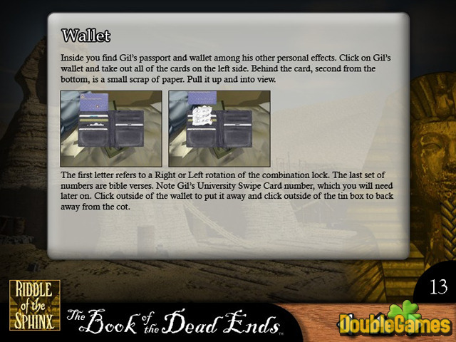 Free Download Riddle of the Sphinx Strategy Guide Screenshot 1