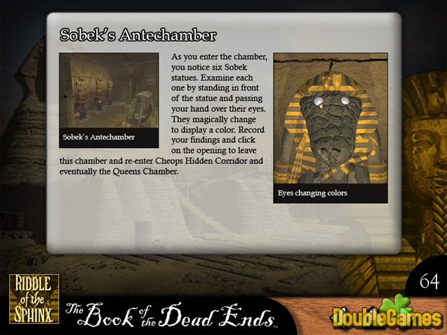 Free Download Riddle of the Sphinx Strategy Guide Screenshot 3